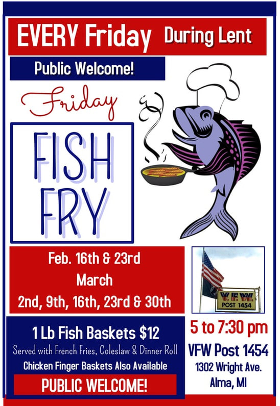 Fish Fry Every Friday During Lent Vfw Post 1454